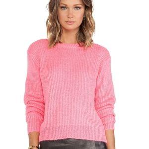 T Alexander Wang Mohair Crop Oversized Pullover